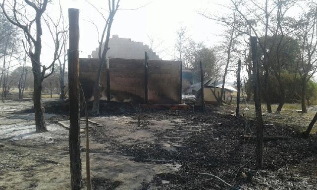 Mazambala Safari Lodge Namibia burned down