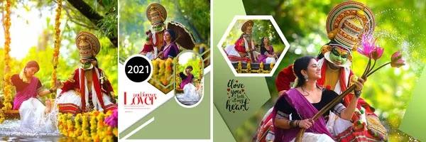 New DM Design 2021 for Pre-wedding Couple Photo Album