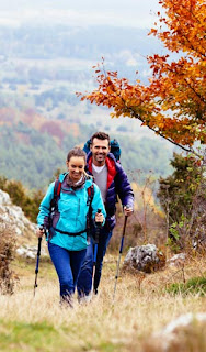 Hiking is a fun, healthy exercise to do during the Fall season.