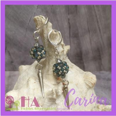 Baroc beaded beads oorbellen - vmcdesigns.nl