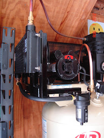 DIY Air Compressor Oil Cooler water trap moisture water removal