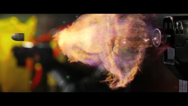 Dredd film still slow motion bullet explosion