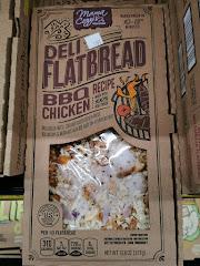 Unopened box of Mama Cozzi's BBQ Chicken Deli Flatbread