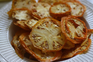 dehydrated yellow tomatoes and more zucchini candy