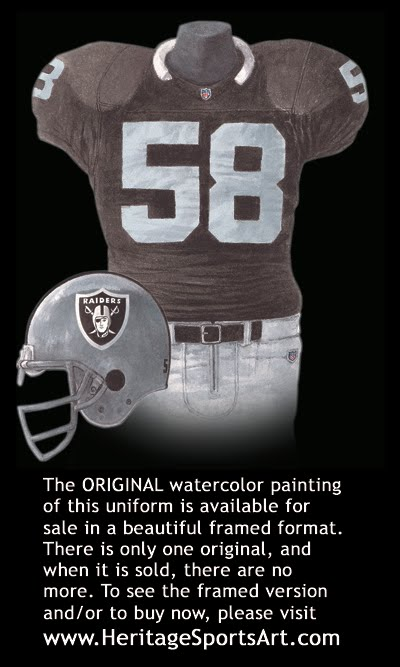 e1f980b5c Oakland Raiders Uniform and Team History | Heritage Uniforms and Jerseys