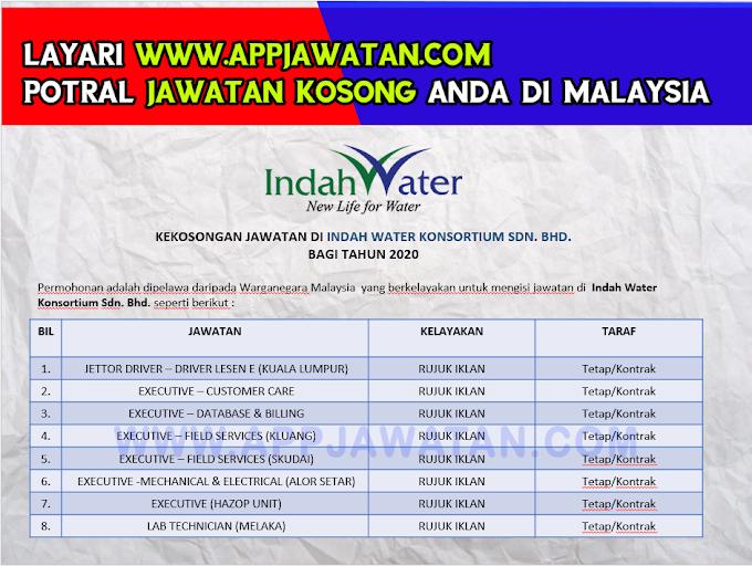 Jawatan Kosong Terkini di Indah Water Konsortium Sdn. Bhd.