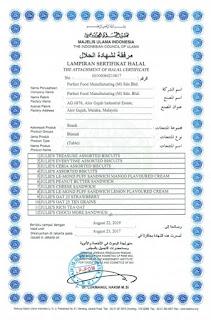 sertifikat halal biskuit julie's
