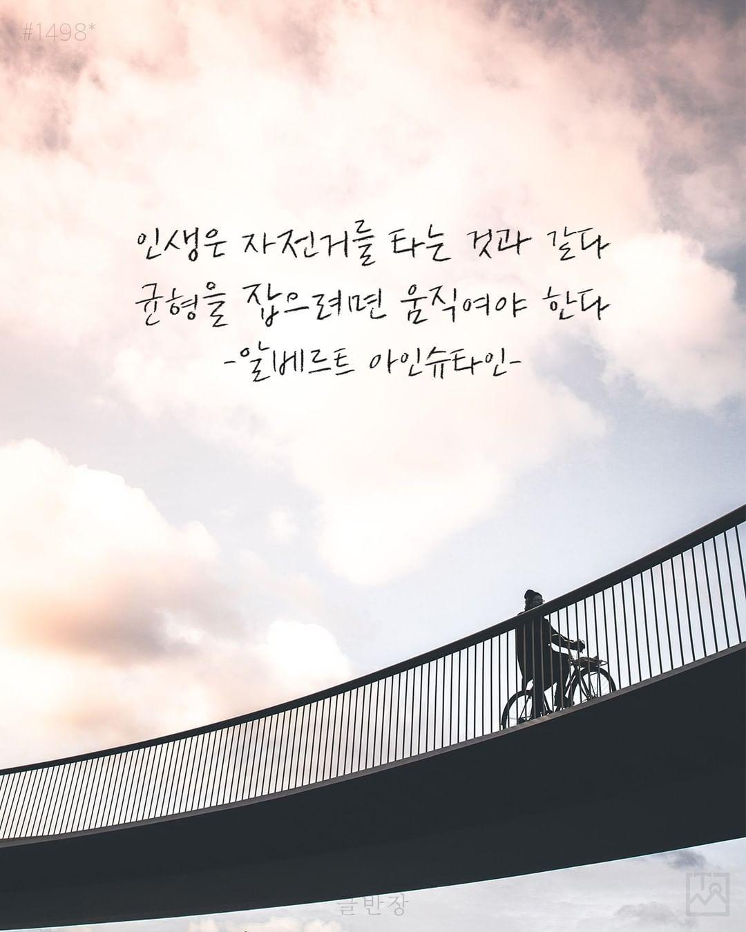 인생은 자전거를 타는 것과 같다 - 알베르트 아인슈타인(Albert Einstein)