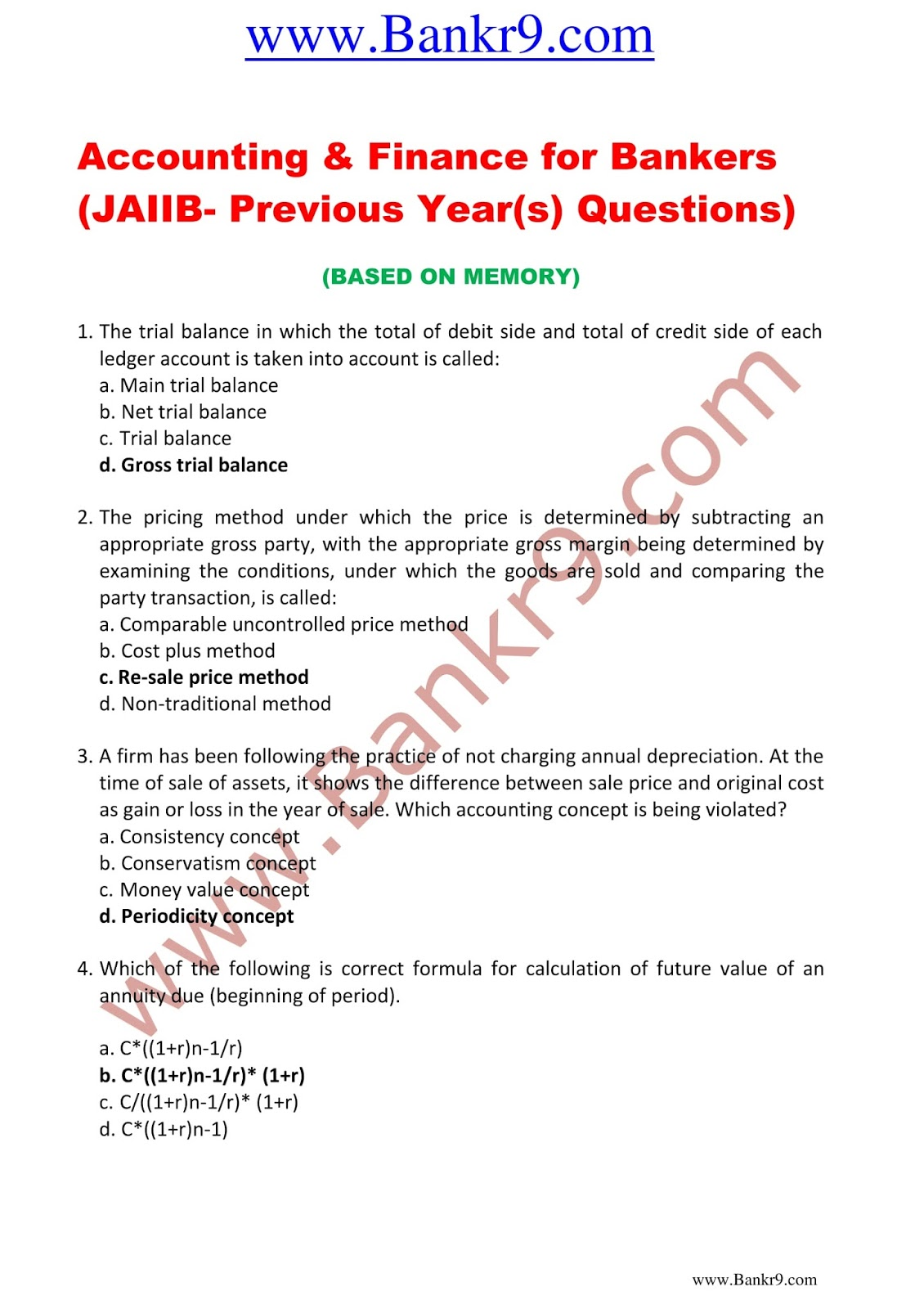 Jaiib Mock Test Papers Pdf