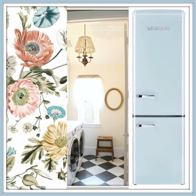 Laundry Room Makeover Farmhouse Cottage Style-Wallpaper Choices-From My Front Porch To Yours