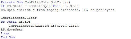 Cara Terlengkap Membuat Nota Penjualan Lengkap dengan Visual Basic 6.0 VB6