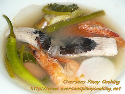 Sinigang na Bangus at Hipon sa Sampalok