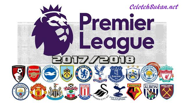 Jadual Perlawanan Liga Perdana Inggeris 2017/2018