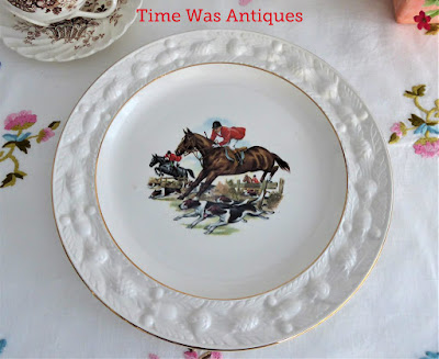Adams Hunt Scene Plate 1960s English Country House Hunting Dogs Horses Ironstone 9.75 Inch https://timewasantiques.net/products/adams-hunt-scene-plate-1960s-english-country-house-hunting-dogs-horses-ironstone-9-75-inch