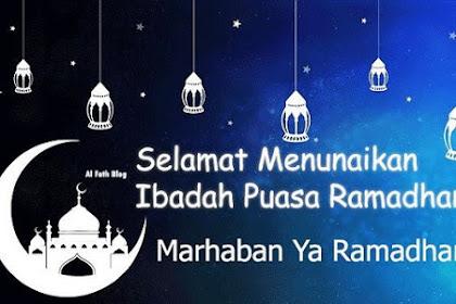 50 Kata Ucapan Selamat Menjalankan Ibadah Puasa di Bulan Ramadhan 2019