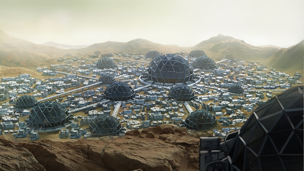 Mars colony by Mauricio Pampin