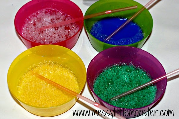 bubble painting recipe