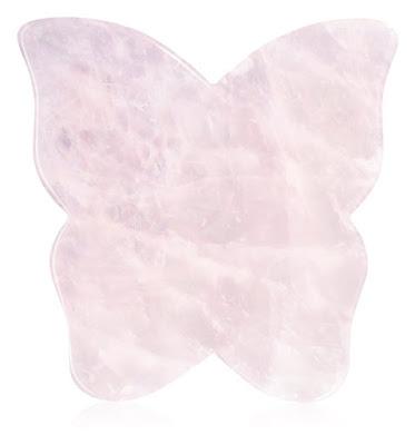 массажер Crystallove Butterfly Rose Quartz Gua Sha Plate