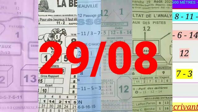Pronostics quinté+ pmu dimanche Paris-Turf-100 % 29/08/2021