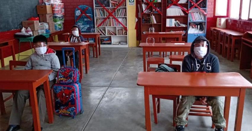 MINEDU: Más de 85 mil colegios a nivel nacional se encuentran habilitados para brindar clases semipresenciales, informó el Ministro de Educación, Juan Cadillo