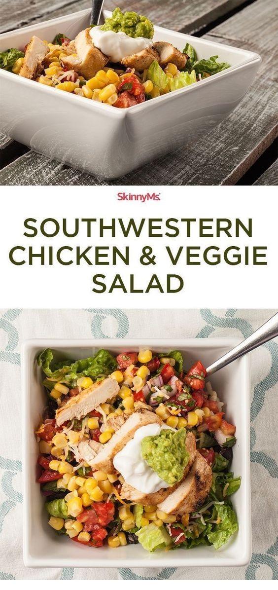 Southwestern Chicken & Veggie Salad