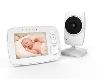 IKQIEOR Baby Monitor- 3.2 Video Baby Monitor with Camera and Video