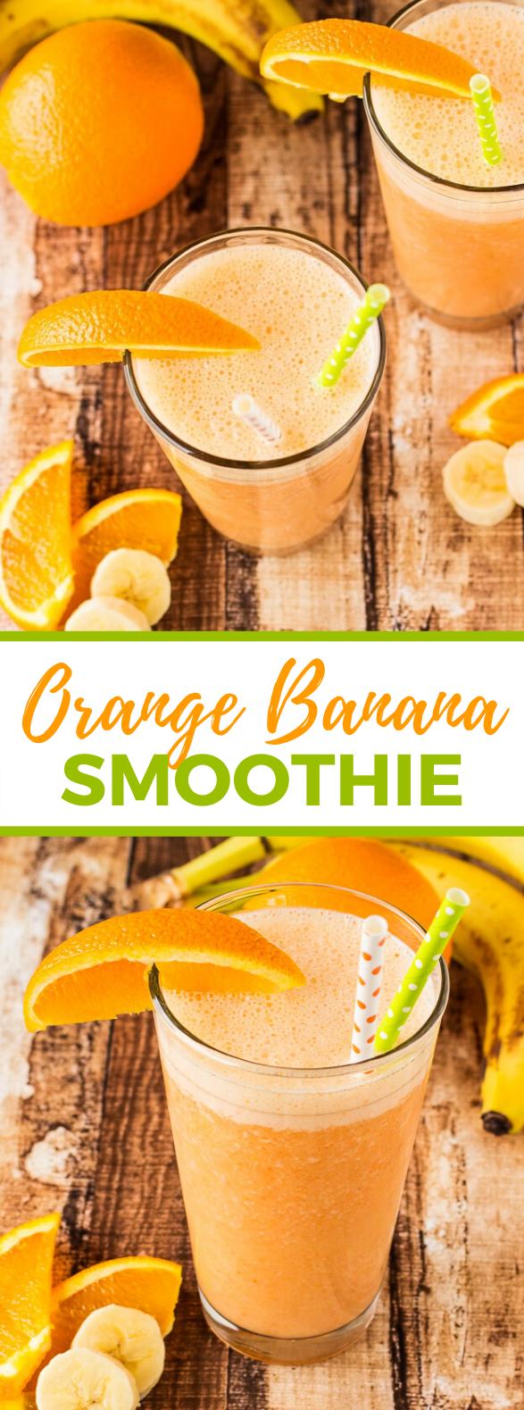 Orange Banana Smoothie #drinks #freshdrink