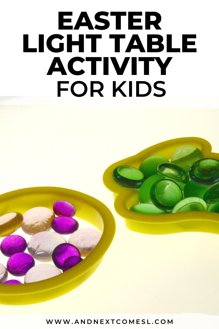 Love this Easter light table activity idea for preschoolers and toddlers!