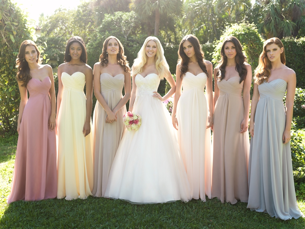 Angee's Eventions: Mismatches Bridesmaid Dresses