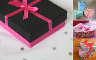 Cara Mudah Membuat Kotak Kado Dari Kardus Bekas