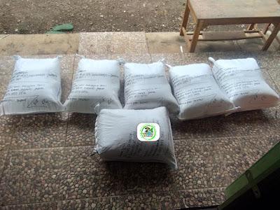 Benih padi yang dibeli   EUIS SUTARSIH Sukoharjo, Jateng Ke-18  (Setelah packing karung ).