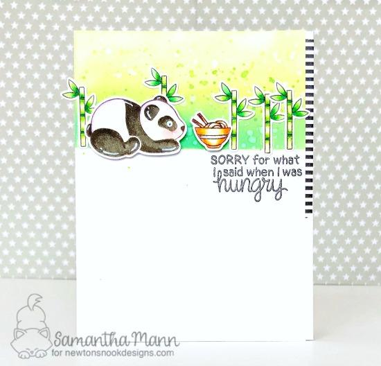 Panda Card by Samantha Mann | Playful Pandas Stamp Set by Newton's Nook Designs #newtonsnook #handmade