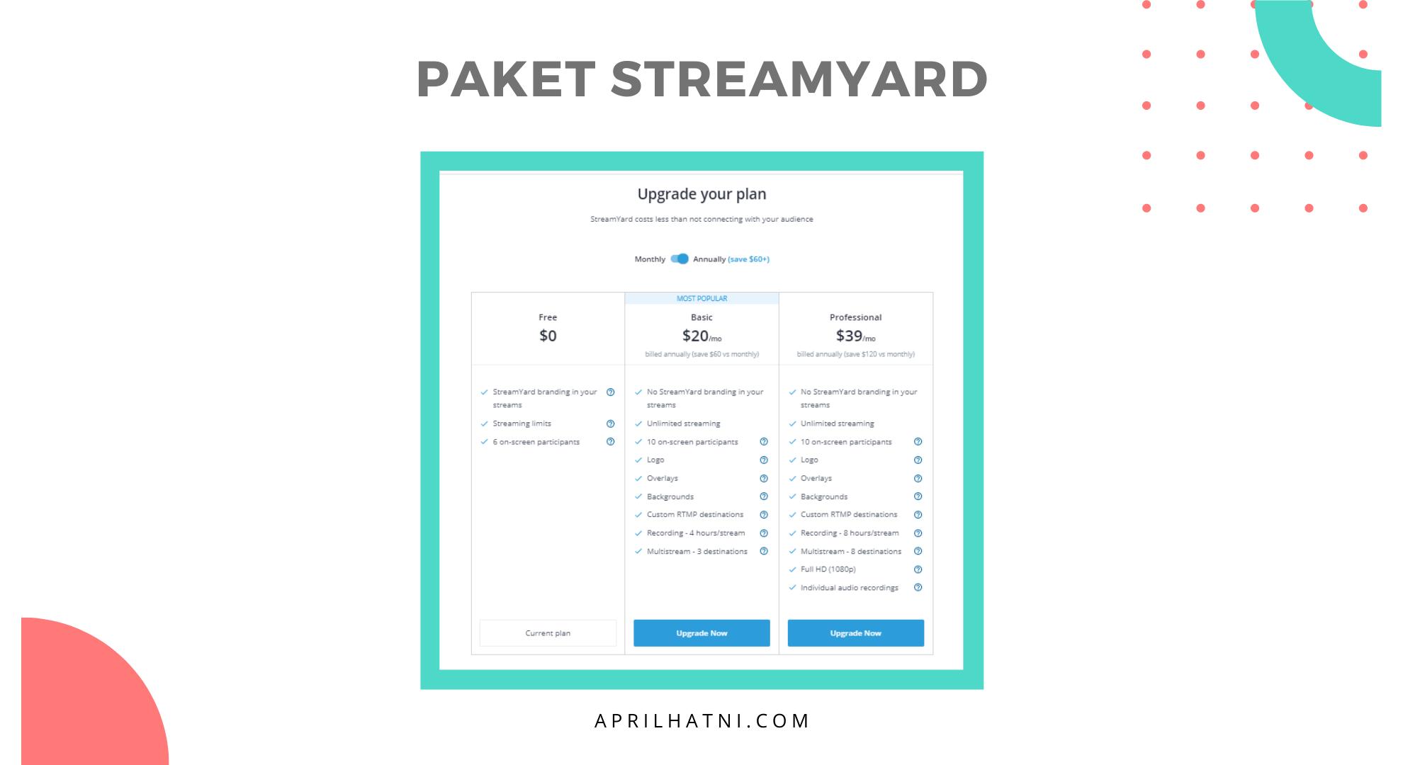 paket streamyard