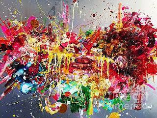 cuadros-movimiento-y-energía-brillante pinturas-brillantes-y-coloridas
