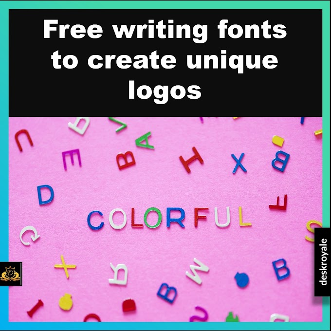 Free writing fonts to create unique logos