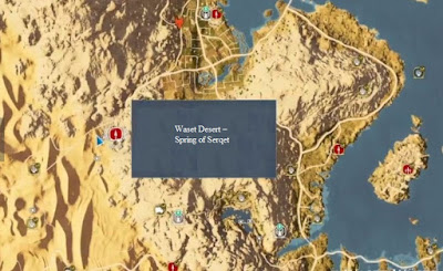 Waset Desert, Spring of Serqet, Assassin's Creed Origins, New DLC