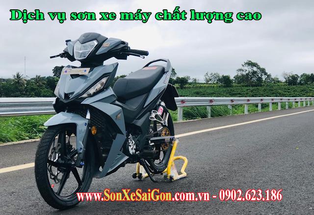 Sơn xe máy Honda Winner màu xám xi măng cực đẹp