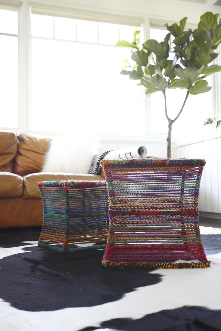 Colorful rope tables