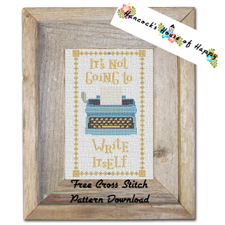 Motivation Monday It's Not Going to Write Itself Typewriter Cross Stitch Pattern