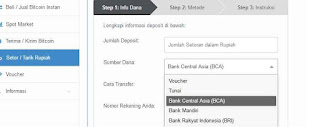 deposit saldo VIP bitcoin indonesia