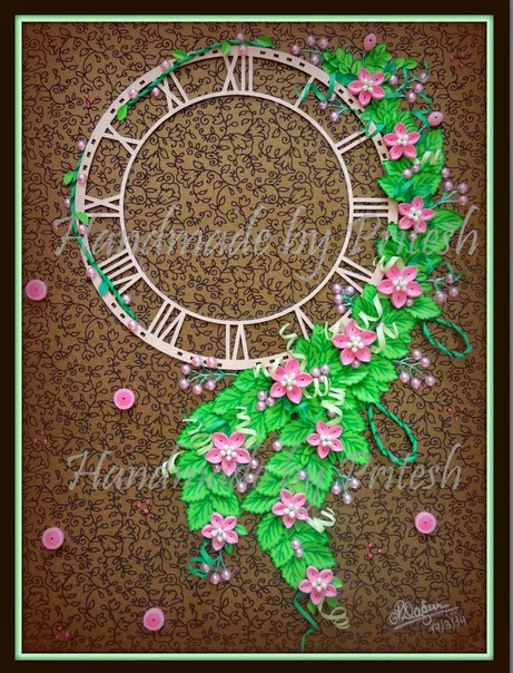 Quilling Me Softly: A simple wall clock