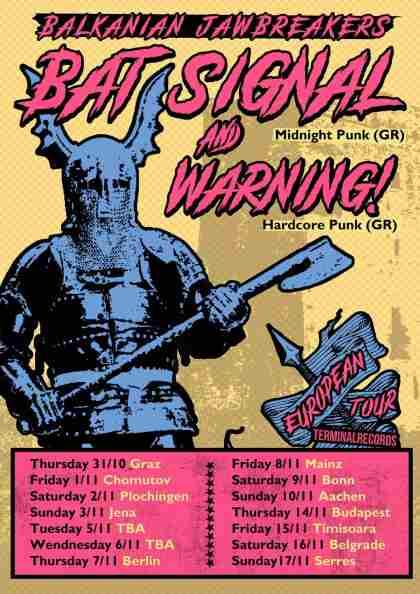 Bat Signal και Warning σε κοινή Ευρωπαϊκή περιοδεία