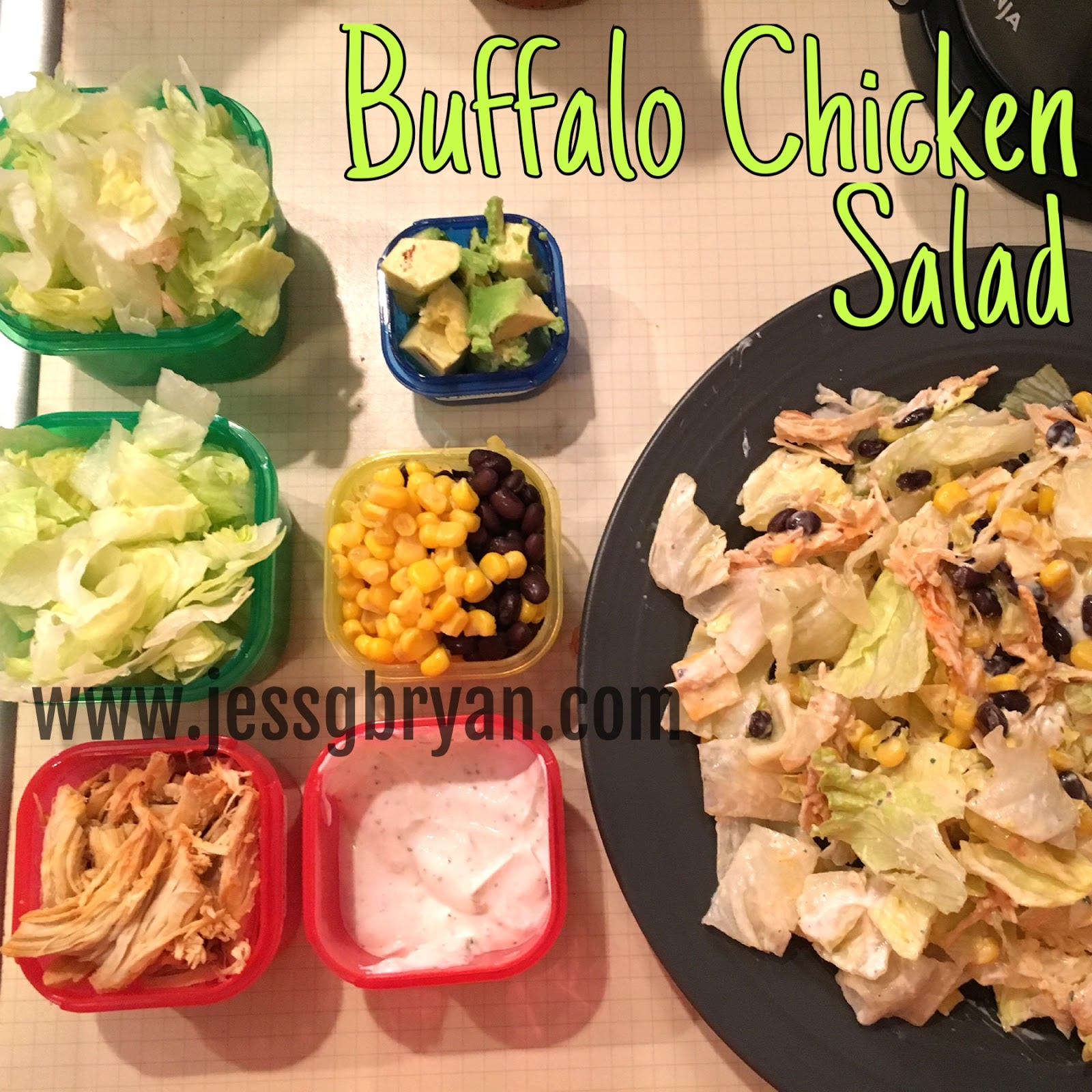 buffalo chicken salad 21 day fix approved jess bryan nutritionist