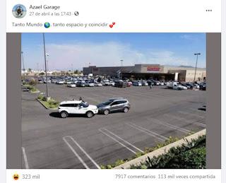 Choque en el estacionamiento del shopping