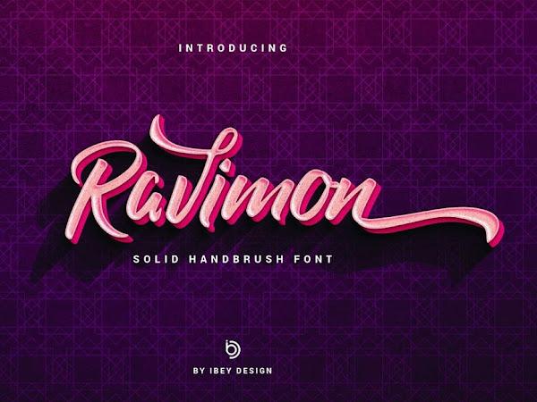 Ravimon Bold Script Font