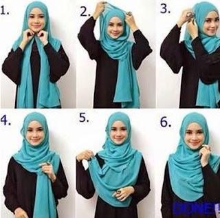 Contoh hijab pashmina terbaru