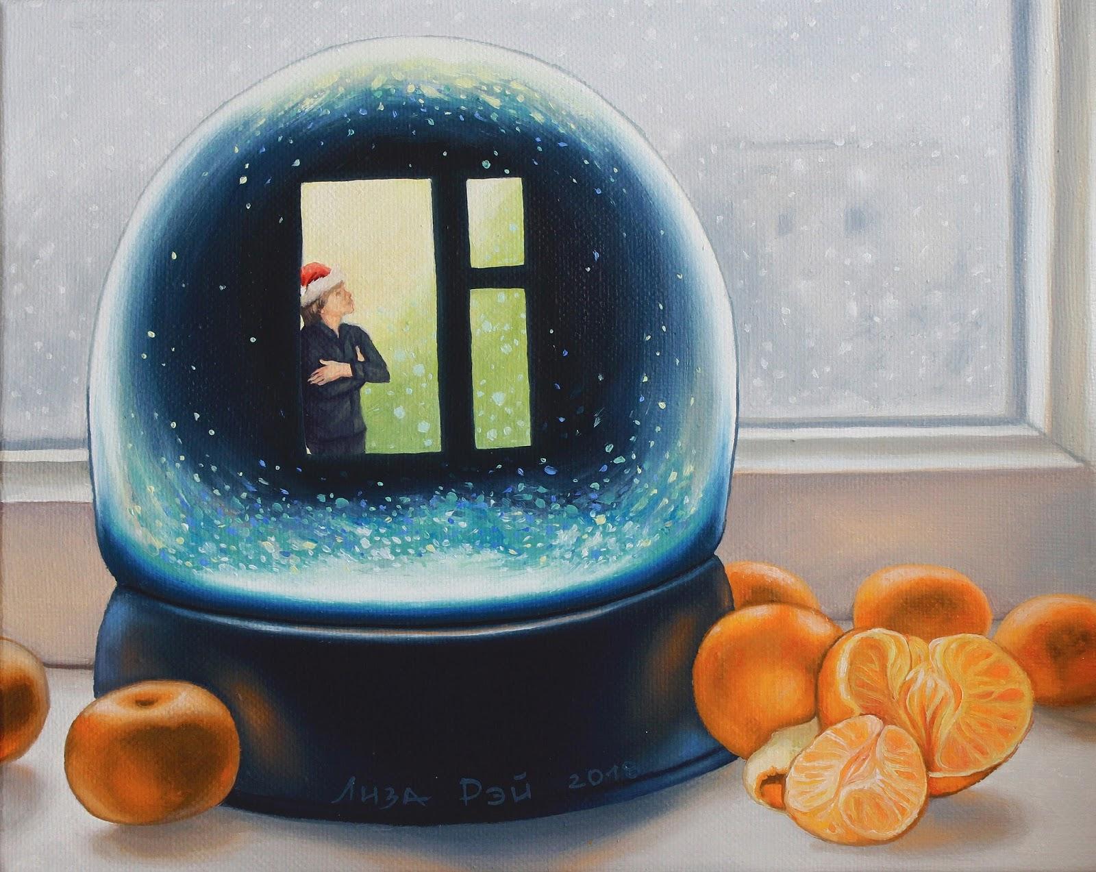 Сюрреализм. Лиза Рэй - Снег за окном