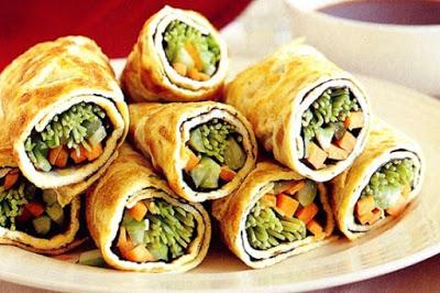 Egg rolls with vegetables