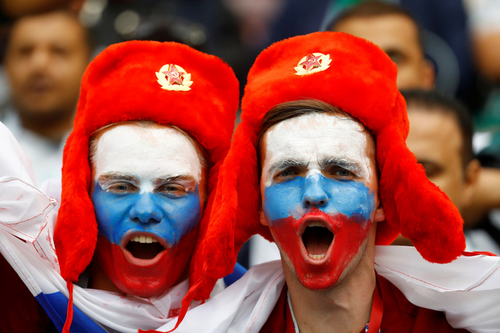 Футбольные фанаты Чемпионата мира 2018