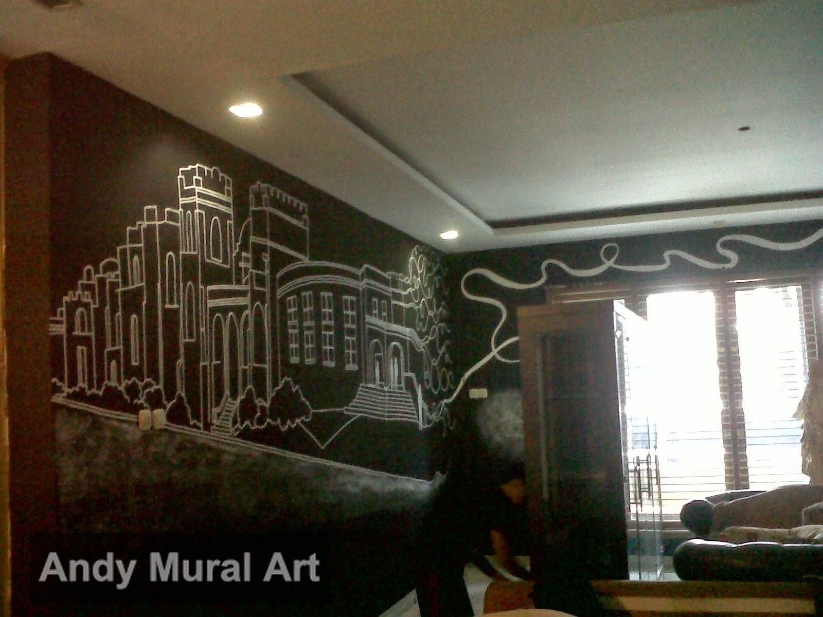 Lukisan cafe dan restoran masa kini jasa lukis dinding for Mural untuk cafe